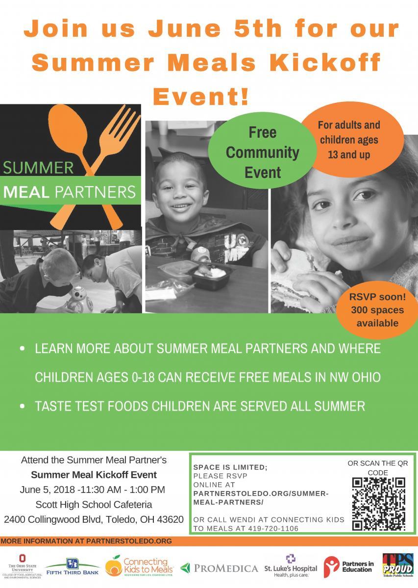 2018 Summer Meal Partnership Kick Off Invitation